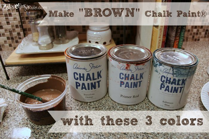 Garage sale chair transformed with chalk paint artsy - How to make dark brown paint ...