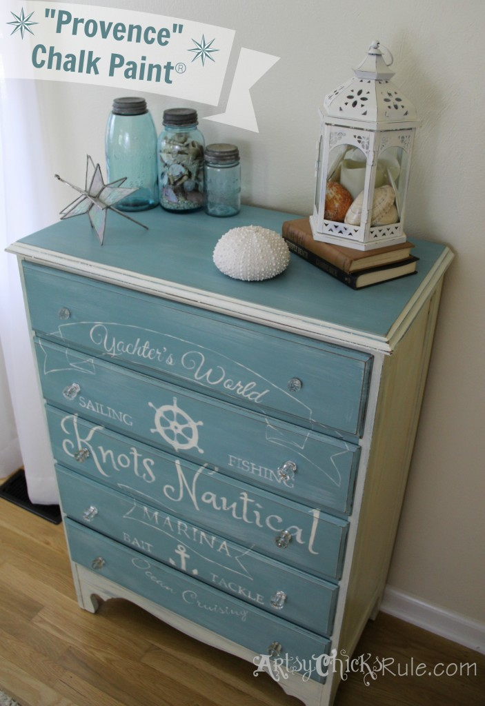 Nautical Dresser-Provence Chalk Paint1- Artsy Chicks Rule