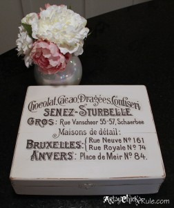 Cigar Box painted with Annie Sloan Chalk Paint - Graphic's Fairy graphic complete