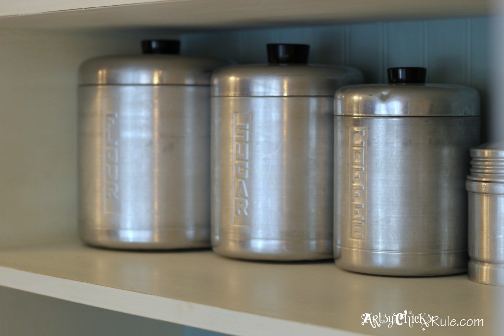 Baker's Hutch - Retro Canisters - Annie Sloan Chalk Paint