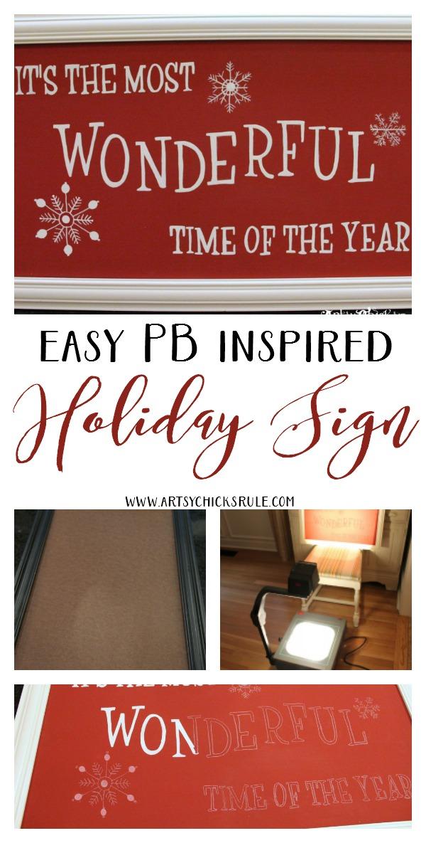 EASY DIY Holiday Sign!!! artsychicksrule.com