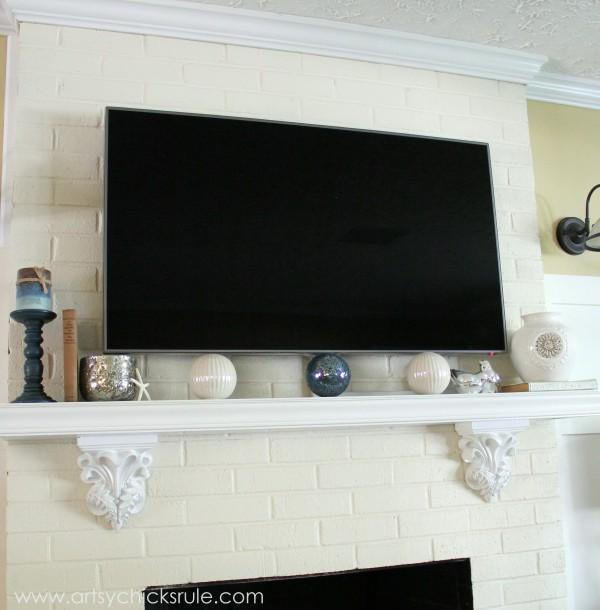 Family Room Update - mantel -artsychicksrule.com