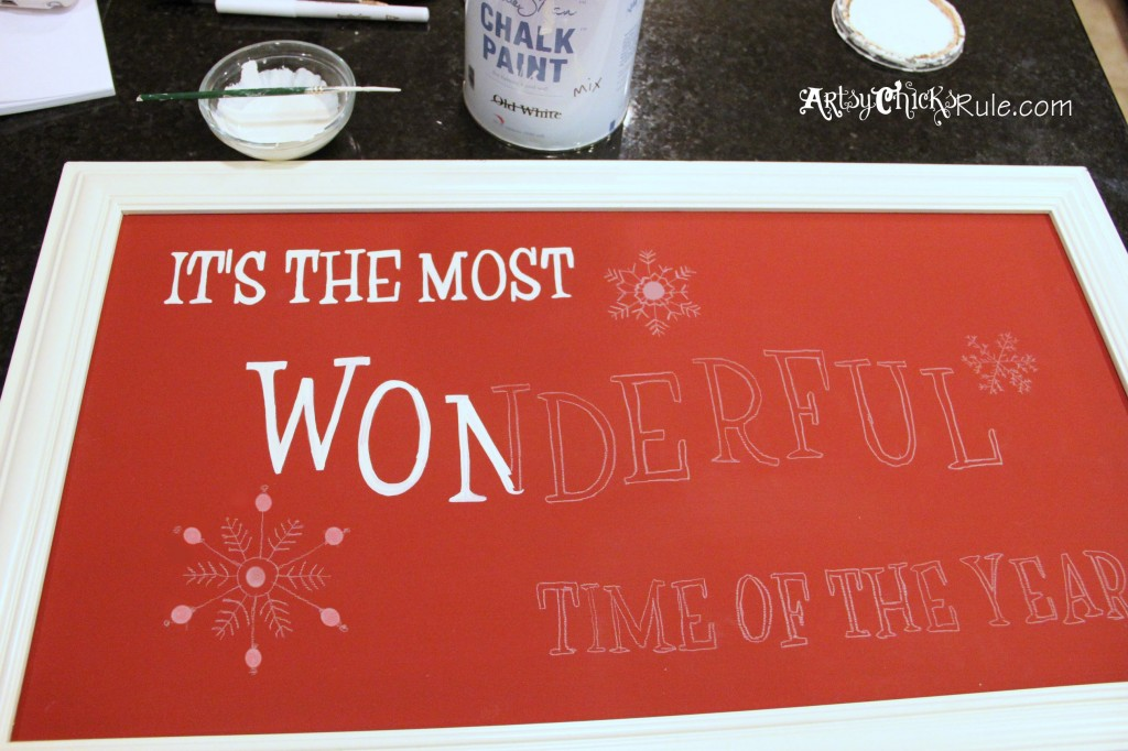Holiday Sign - Pottery Barn Inspired - Hand Painting in the Letters