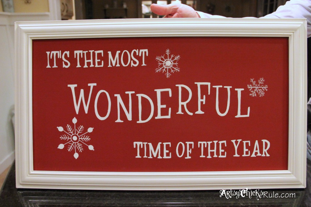 Holiday Sign Tutorial - Pottery Barn Inspired - Chalk Paint