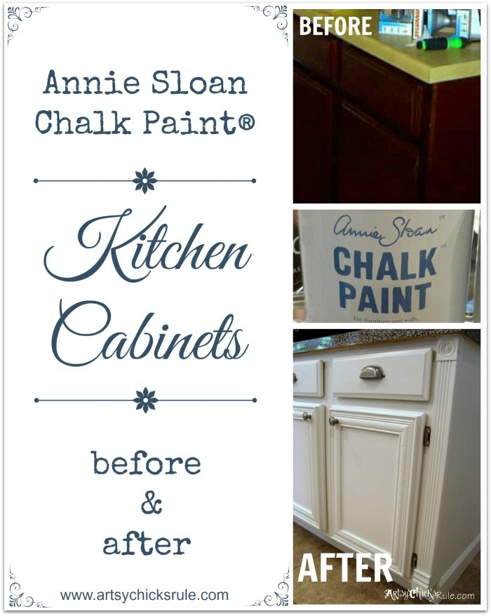 What do you think would you paint your kitchen cabinets for Annie sloan chalk paint kitchen cabinets