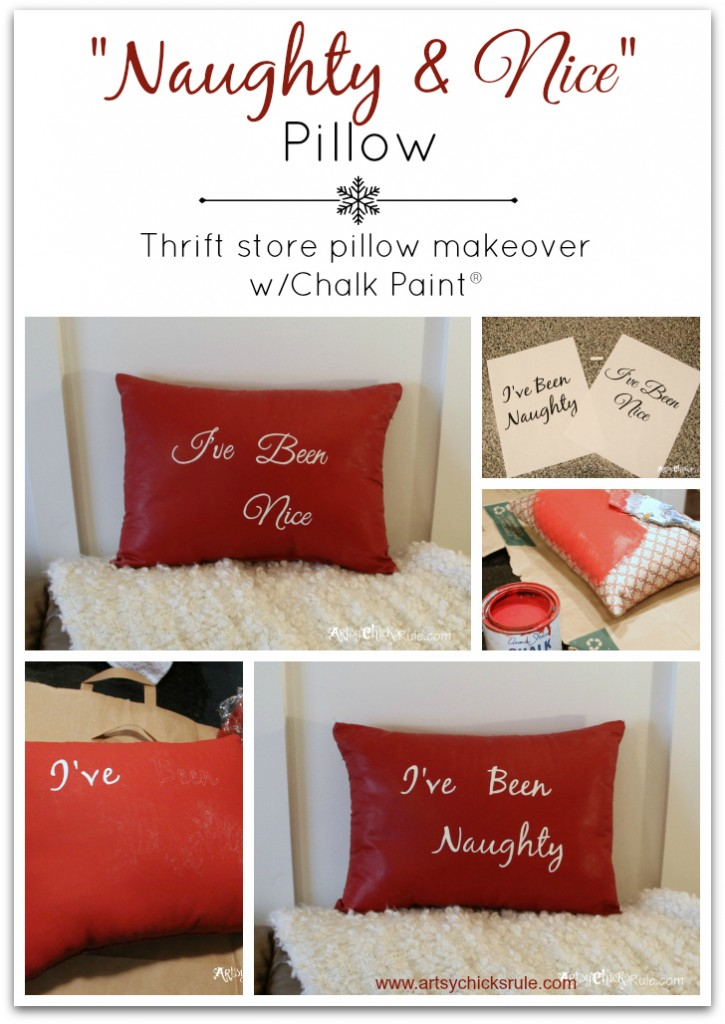 Naughty and Nice Pillow Start to Finish