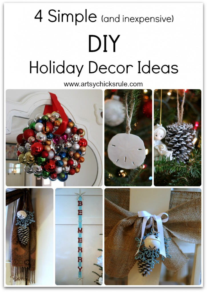 4 Super Simple DIY Holiday Decor Collage