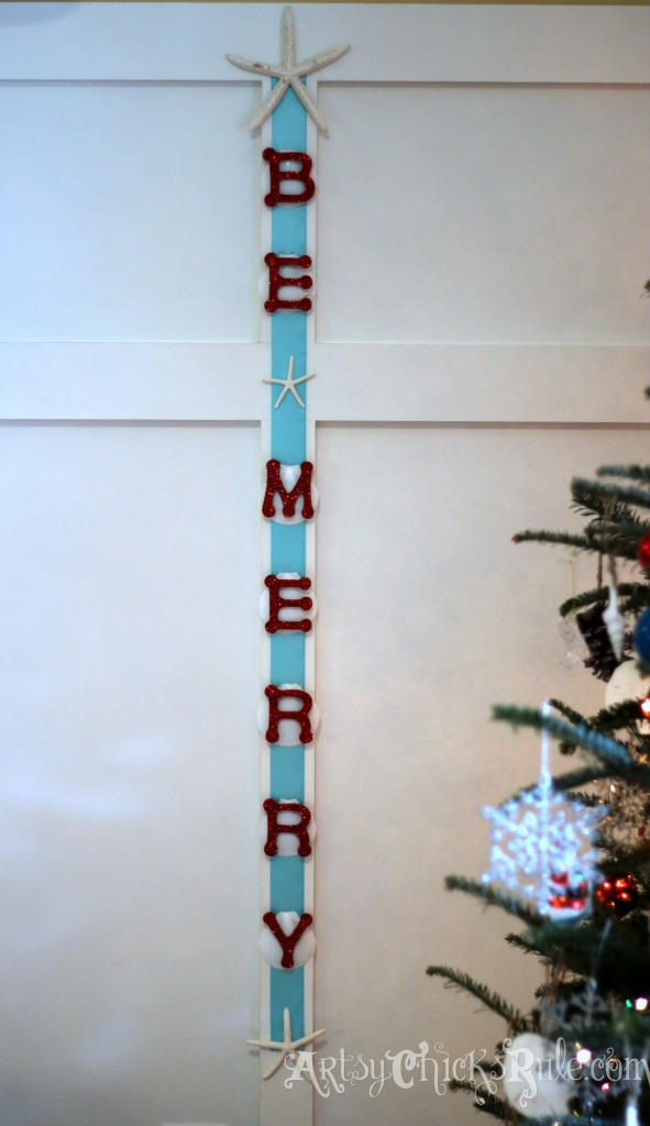 DIY Be Merry Wall Hanging - Holiday Home Tour