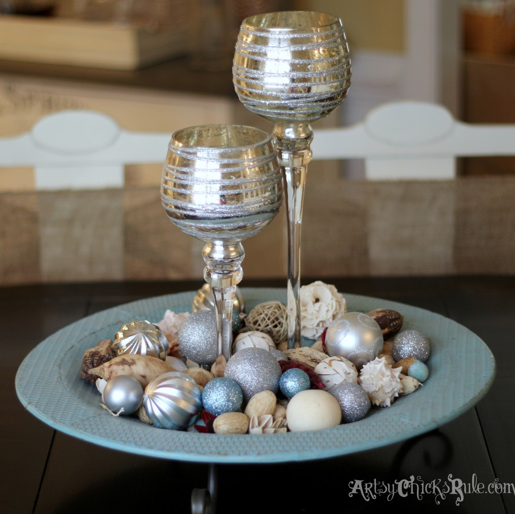 Dining Table Centerpiece for the Holidays