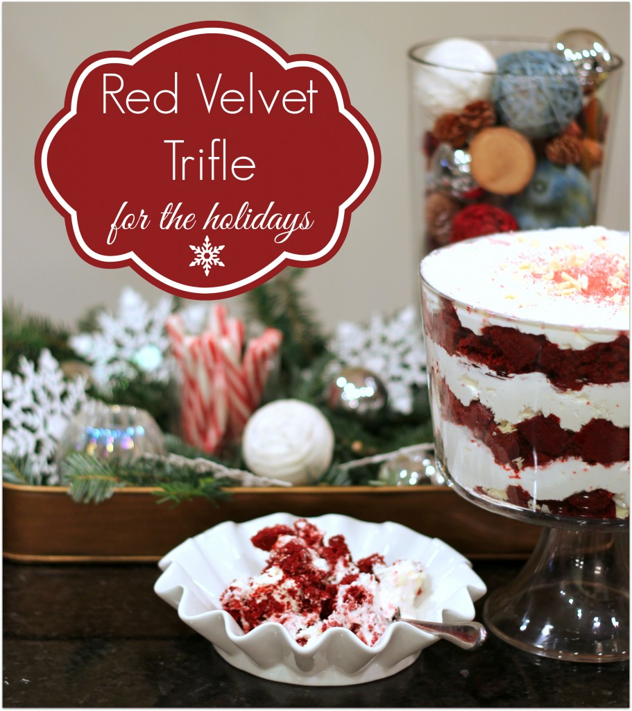 Red Velvet Trifle - Great Holiday Dessert - #redvelvet arstychicksrule.com