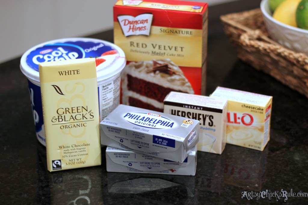 Red Velvet Trifle Ingredients