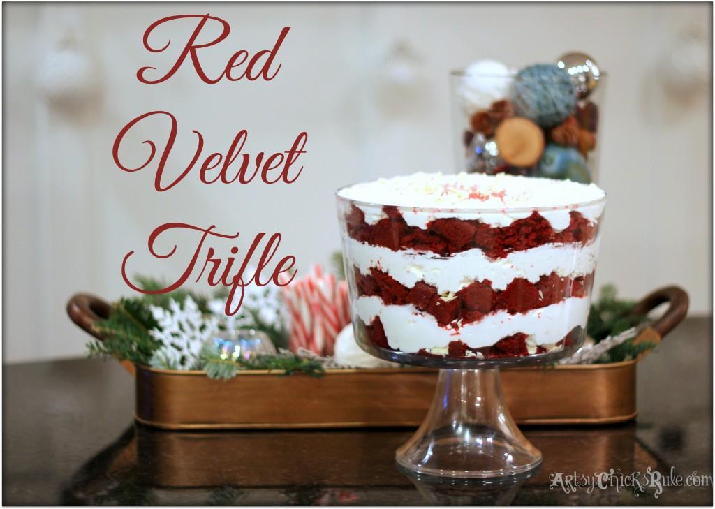 Red Velvet Trifle for the Holidays - Recipe- #redvelvet arstychicksrule.com