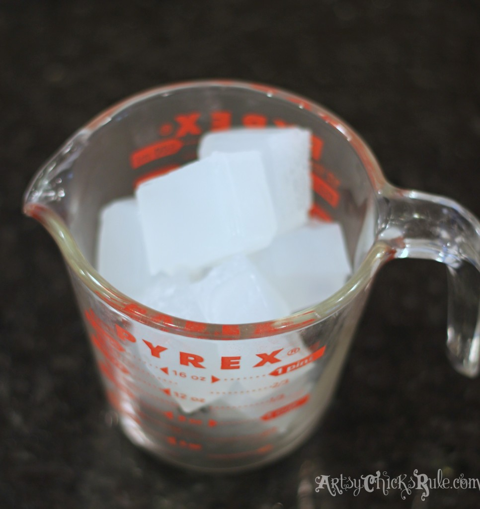 Cubed Melt and Pour Soap for Sugar Scrubs Recipe