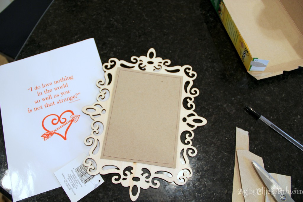 Simple & Fun Valentine's Day Craft - Cardboard back cut