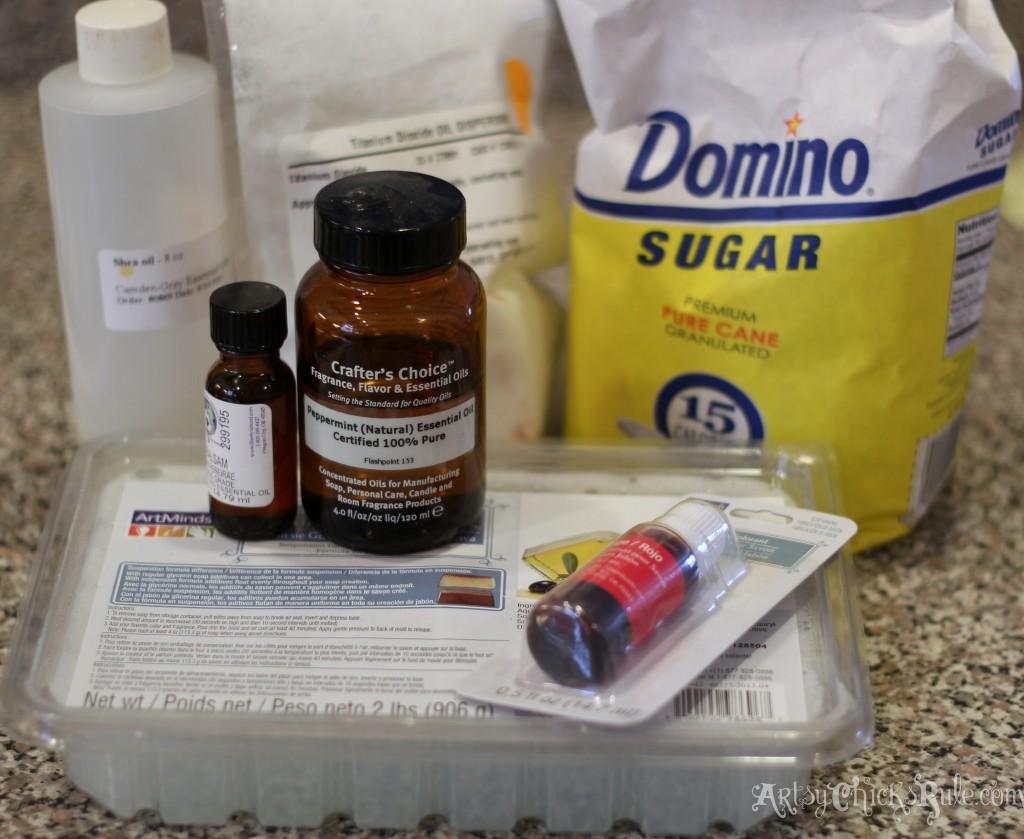 Ingredients for Simple Sugar Scrubs Recipe