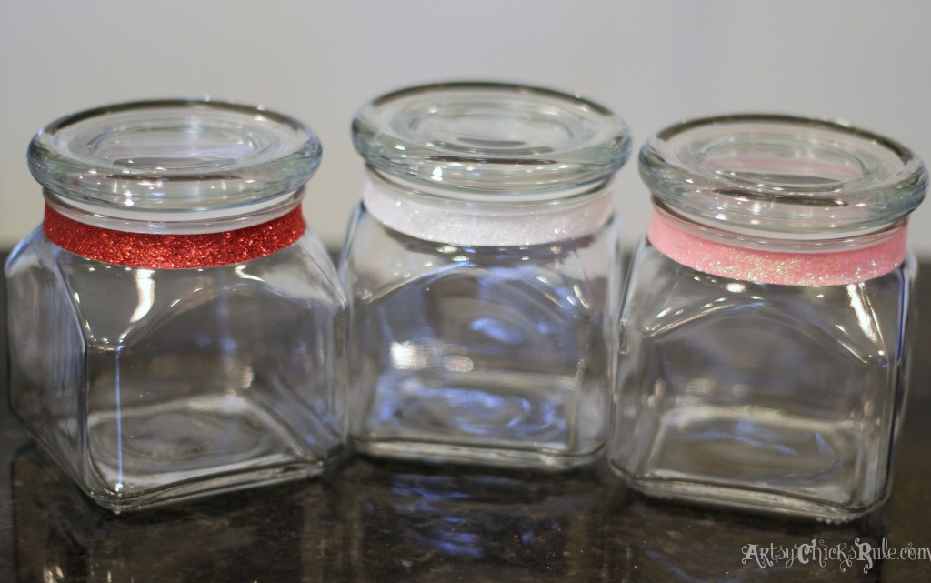 Jars with Sparkle Tape for Sugar Scrubs