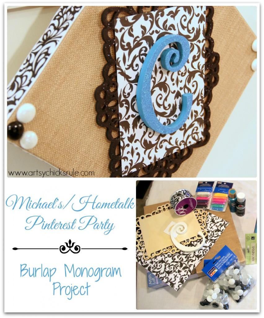 Michael's - Hometalk Pinterest Party Monogram Project