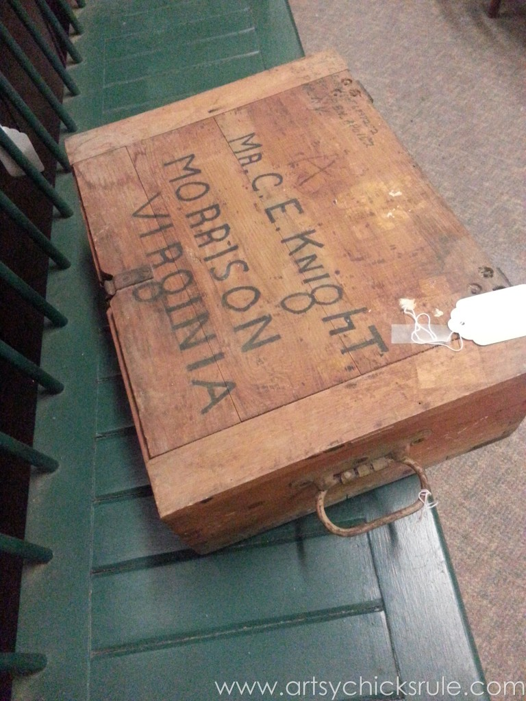 Old shipping box