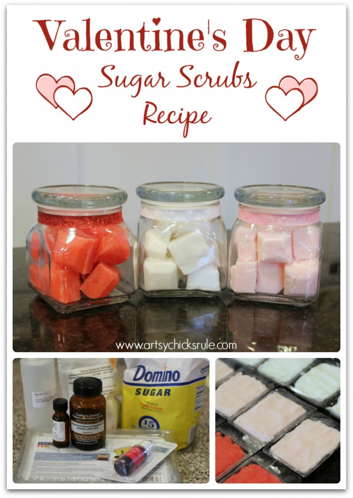 Super simple recipe for Sugar Scrubs!! #valentinesday