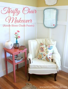 Thrifty Chair Makeover Annie Sloan Chalk Paint