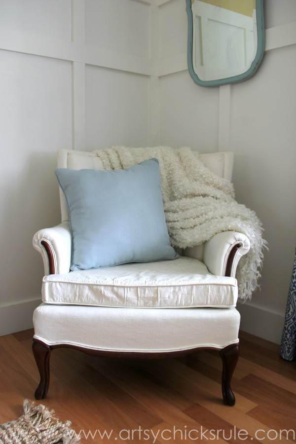 Feather Pillow Fail-  a No-Sew Fix - Finished and better than new -  #nosew artsychicksrule.com