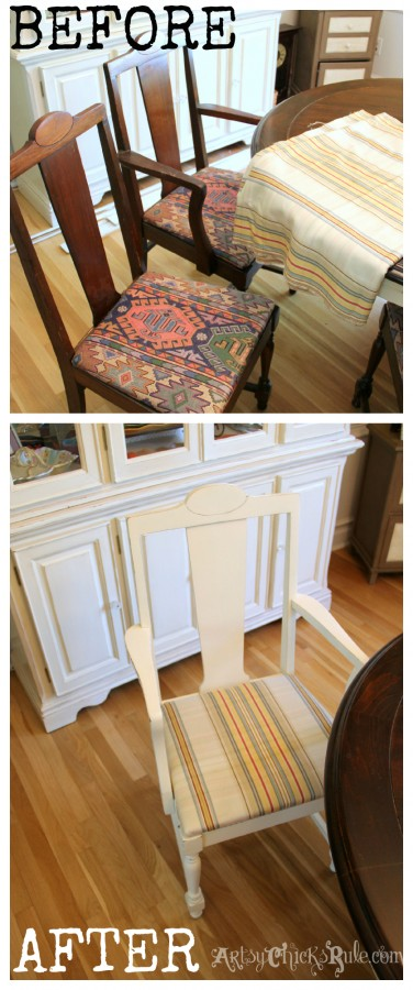 Styling and Decorating on a Budget - CL Chairs - artsychicksrule.com #thriftydecor #budgetdecor