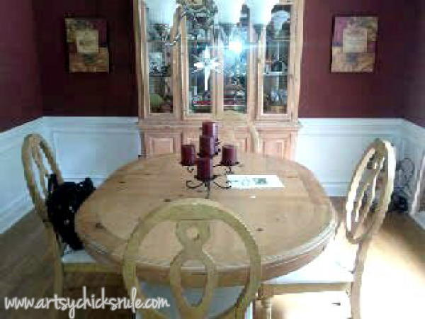 Styling and Decorating on a Budget - Dining Table Before - artsychicksrule.com #thriftydecor #budgetdecor
