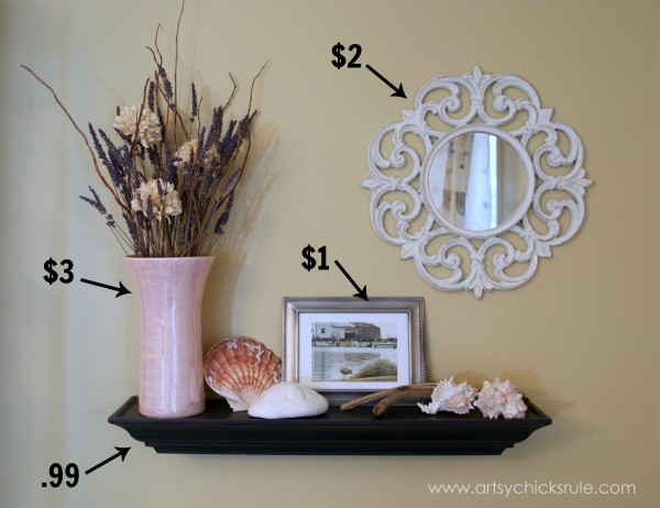 How to decorate on a budget dining room artsy chicks rule Decorate a large wall cheaply