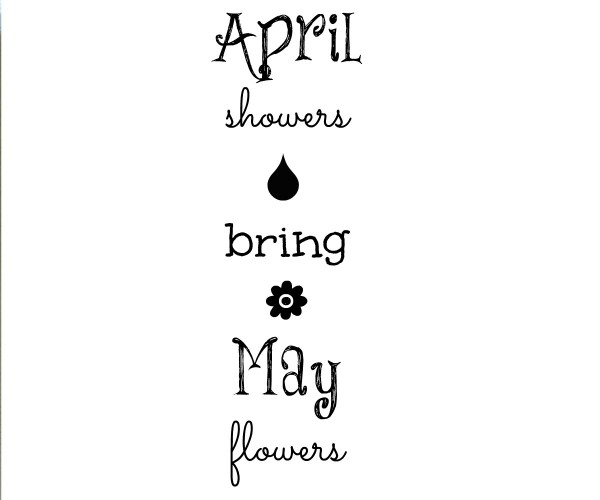 April Showers Sign