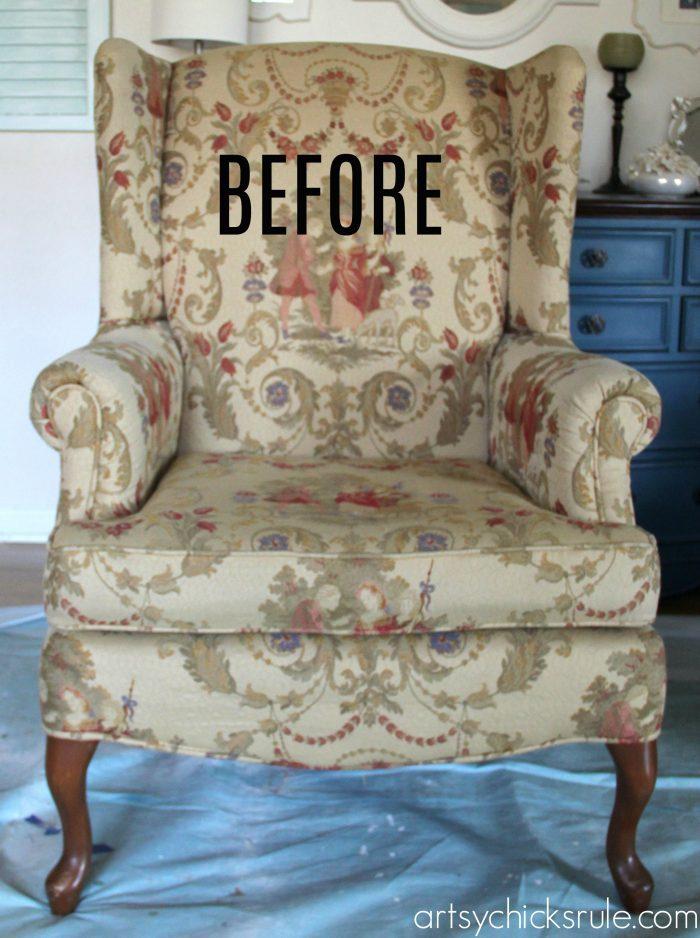 Chalk Painted Upholstered Chair artsychicksrule.com