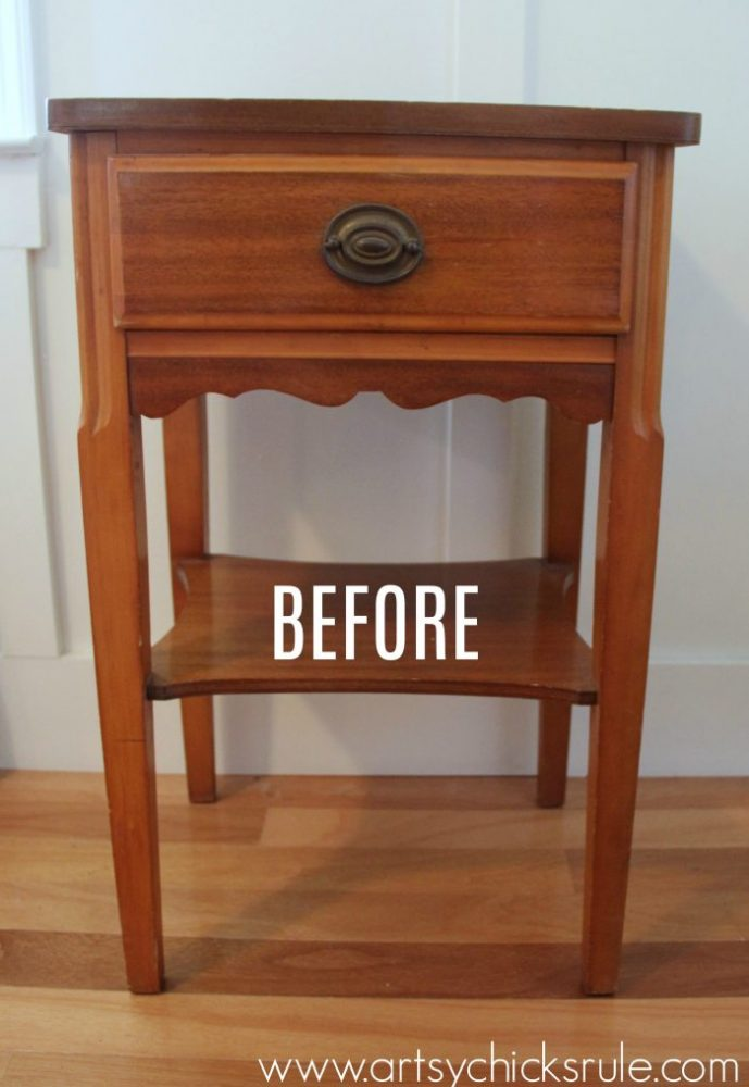 Thrifty End Table Makeover with Chalk Paint! artsychicksrule.com