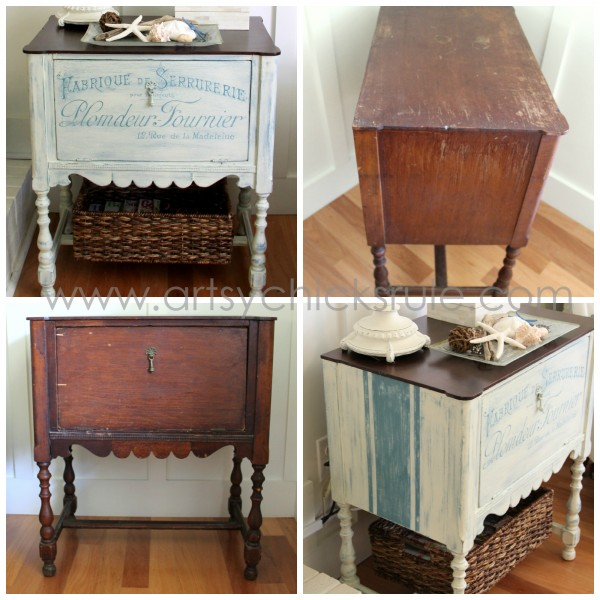 French Fabulous Cabinet Makeover Before & After - All -#chalkpaint -artsychicksrule.com