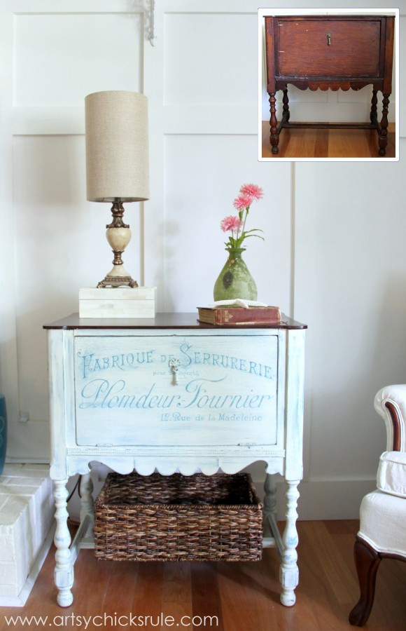 French Fabulous Cabinet Makeover Before & After - #chalkpaint