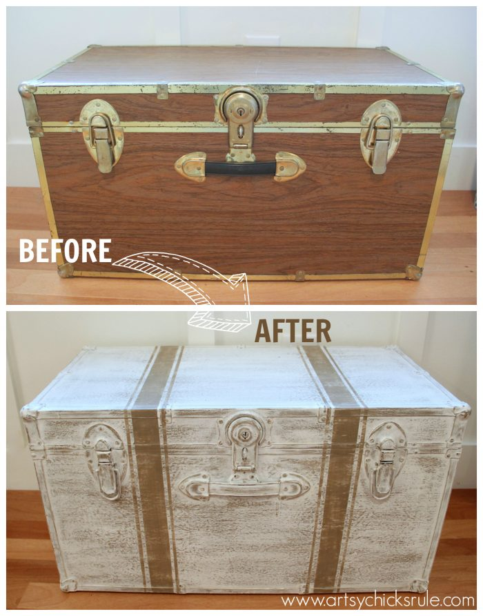 Travel Trunk Chalk Paint Makeover Travel Themed Tour