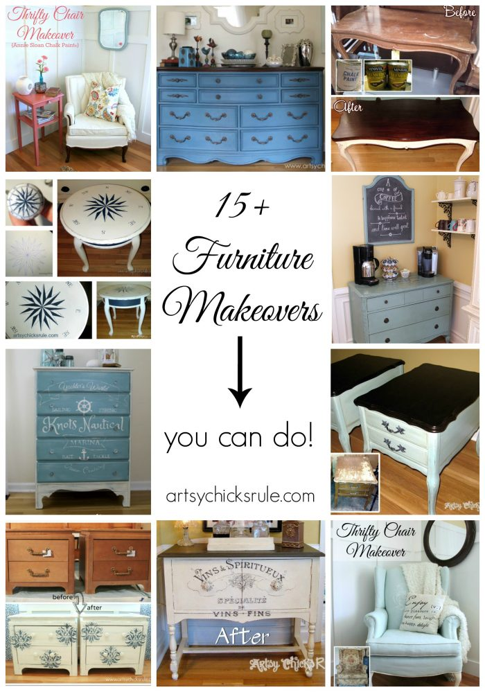15 Furniture Makeovers You Can Do Artsy Chicks Rule