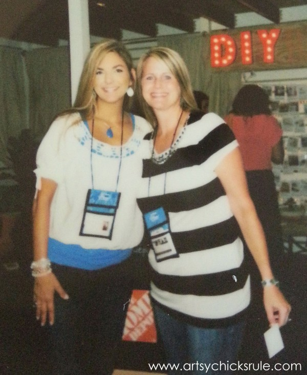 Haven Blogger's Conference 2014 - Christy and I in the Home Depot Booth - artsychicksrule.com