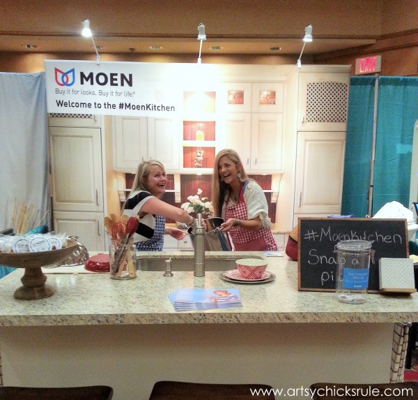 Haven Blogger's Conference 2014 - Cooking up Trouble in the Moen Booth- artsychicksrule.com