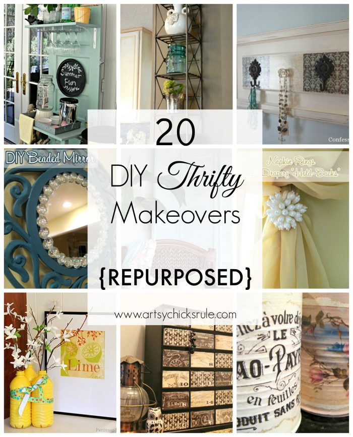 20 Diy Thrifty Makeovers Repurposed Items Artsy Chicks Rule