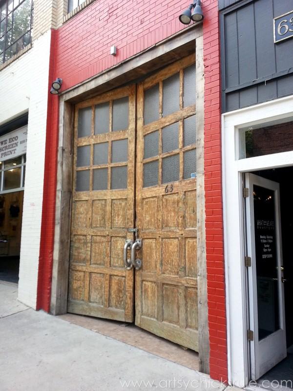 Asheville NC Road Trip - Love Old Doors - artsychicksrule.com #asheville #downtown