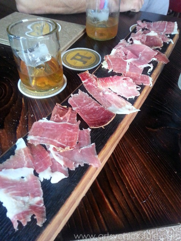 Charleston - Mount Pleasant - a trip in photos - HUSK Bar Ham Board - artsychicksrule.com #southcarolina #charleston