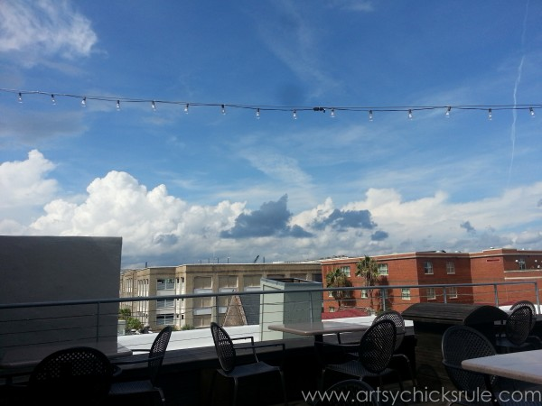 Charleston - Mount Pleasant - a trip in photos - Rooftop Bar - artsychicksrule.com #southcarolina #charleston