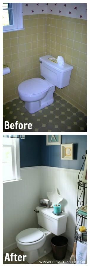 Guest Bath Makeover On A Budget Before After Artsy Chicks Rule