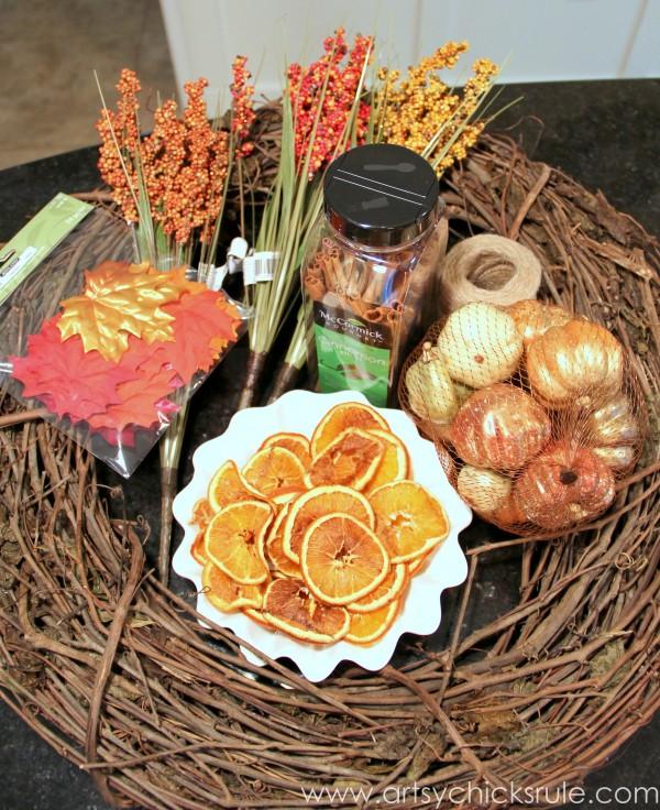 DIY Fall Wreath - Fall Themed Tour - Supplies - #fall #falldecor #diy artsychicksrule (1)