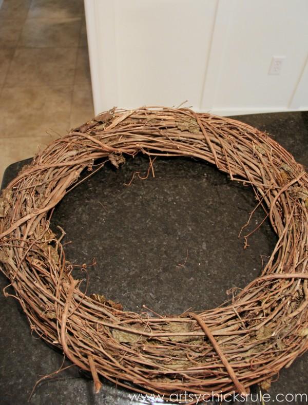 DIY Fall Wreath - Fall Themed Tour - Wreath - #fall #falldecor #diy artsychicksrule
