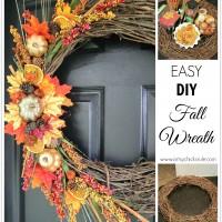 DIY Fall Wreath - Fall Themed Tour - #fall #falldecor #diy #craft artsychicksrule.com