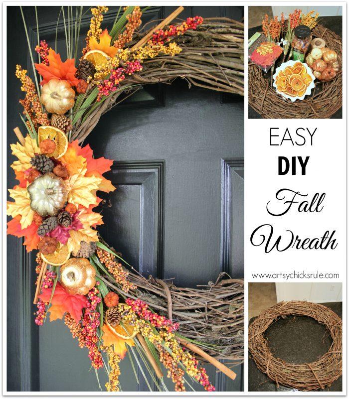 Fall Decor Ideas Canadian Bloggers Home Tour: DIY Fall Wreath (Fall Themed Tour)