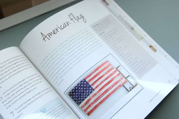DIY Wood Pallet Book Review - Flag