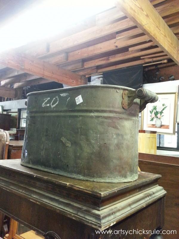 Page's Thieves Market - metal barrel - Mt. Pleasant SC - #vintage #antiques artsychicksrule.com