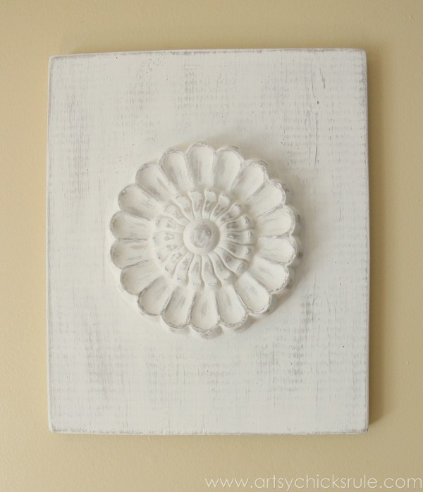 "Wood Carved Wall Art diy ""carved"" wood medallions - artsy chicks rule®"