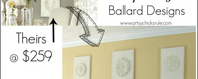 "DIY ""Carved"" Wood Medallions {inspired by – Ballard Designs}"